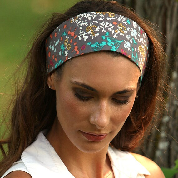 Wide Headbands for Women   Colorful Floral Print Fashion  26e4974bb14