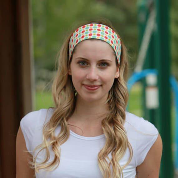 Wide Headband Womans   Colorful   Polka Dot   Retro Print    7fe2e09a26a