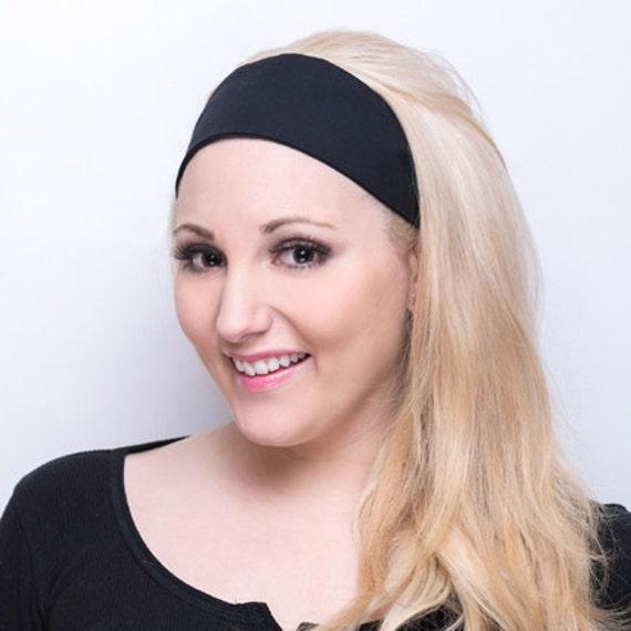 Solid Black Headband   Solid Black Head Band   Black Fabric Headband ... 0272d990c05