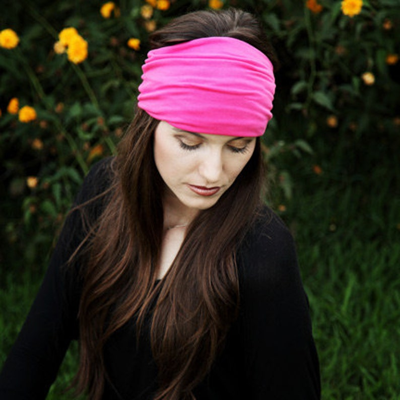 c5baa7dea89b Extra Wide Headband   Yoga Headband   Pink Head Band   Pink