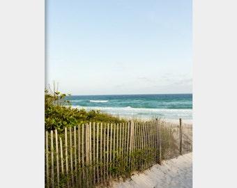 Florida Beach Photo, Beach House Wall Art, 30A Photograph, Florida Seascape Photograph, Seaside Florida Art, Sand Fence Photo, Seascape Art