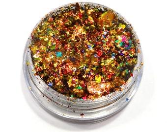 "Lumiere Lusters ""Carnivale"" Rainbow Holographic Metallic Foil Art Pigments"