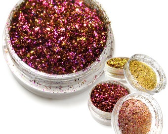 """Lumiere Lusters """"Inferno"""" Holographic Metallic Foil Art Pigments"""
