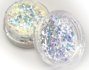 """Holographic Dichroic Flake Art Pigments """"Gold Dust Opal"""" Lumiere Lusters for Lampworking and Polymer Clay"""