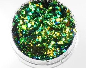 "Lumiere Lusters ""Scarab Beetle"" Rainbow Holographic Metallic Foil Art Pigments"