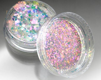 """Holographic Dichroic Art Flake Pigments """"Phoenix Opal"""" Lumiere Lusters for Lampworking and Polymer Clay"""