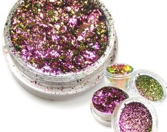 "Holographic Metallic Foil Art Pigments ""Pink Envy"" Lumiere Lusters"