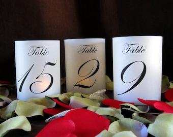 Petite Illuminated Illuminated Table Numbers Wrap Lanterns-just add candles-set of 10