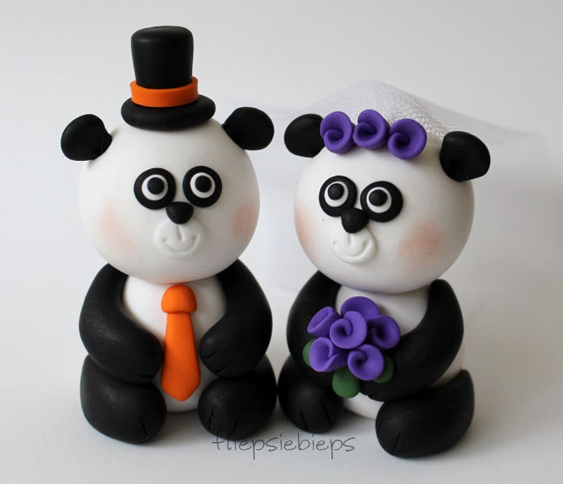 Custom Panda Cake Topper Wedding image 0