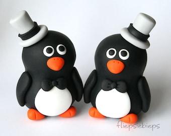 Penguin Wedding Cake Topper Custom (2.5 inch)