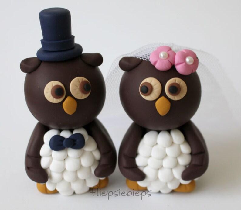 Custom Owl Wedding Cake Topper image 0