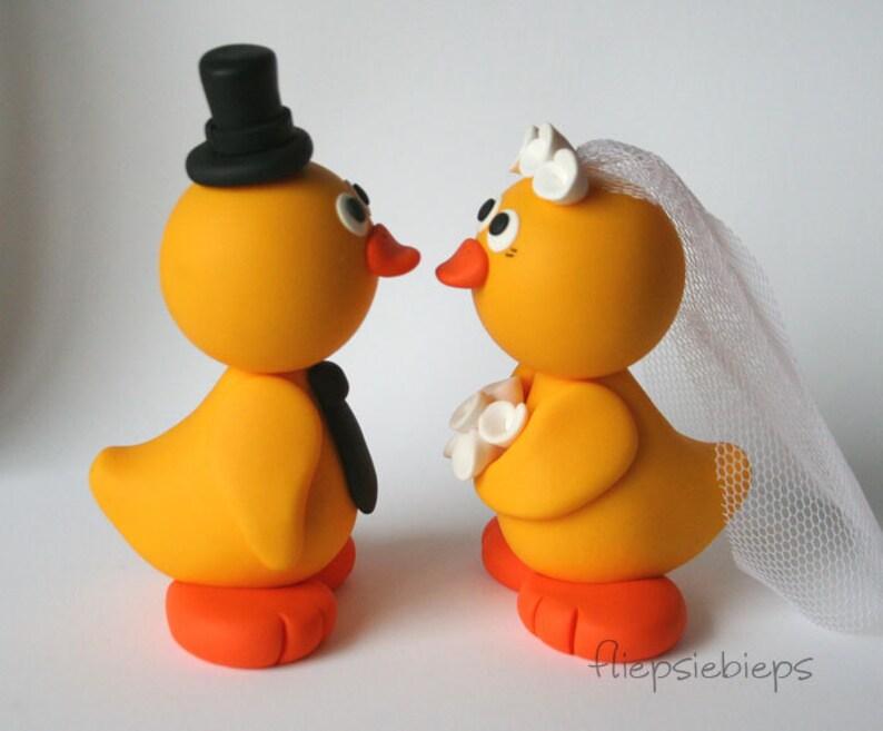 Custom Duck Wedding Cake Topper Yellow image 0