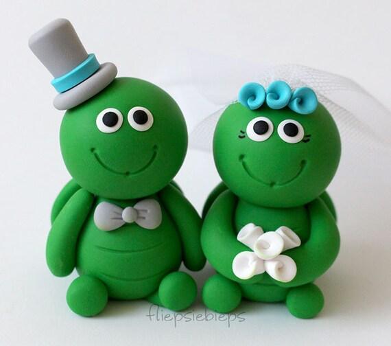 Custom Turtle Wedding Cake Topper   Etsy