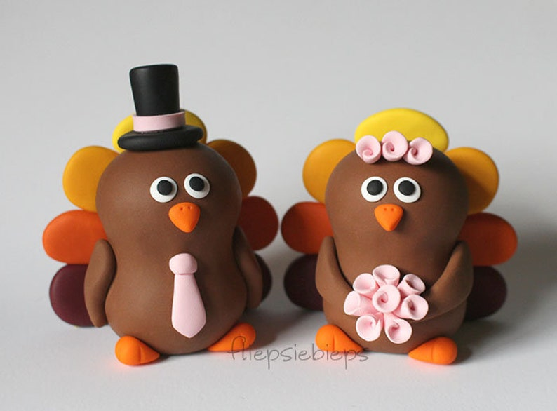 Custom Turkey Wedding Cake Topper image 0