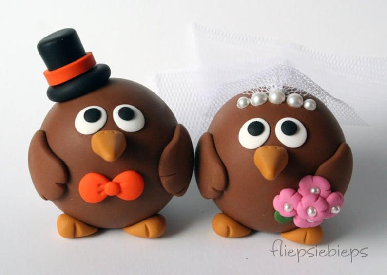 Custom Kiwi Bird Wedding Cake Topper image 0