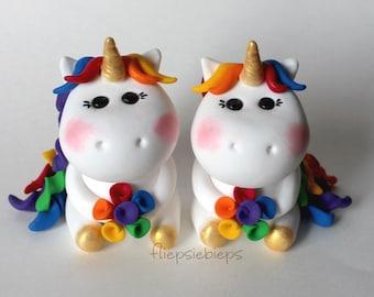 Custom Unicorn Wedding Cake Topper