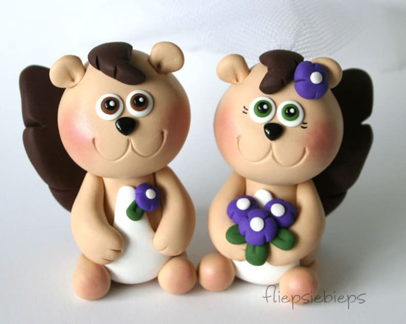 Custom Squirrel Wedding Cake Topper image 0