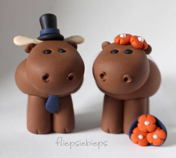 Custom Moose Wedding Cake Topper | Etsy