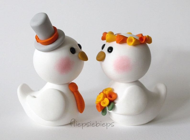 Custom Bird Cake Topper wedding image 0