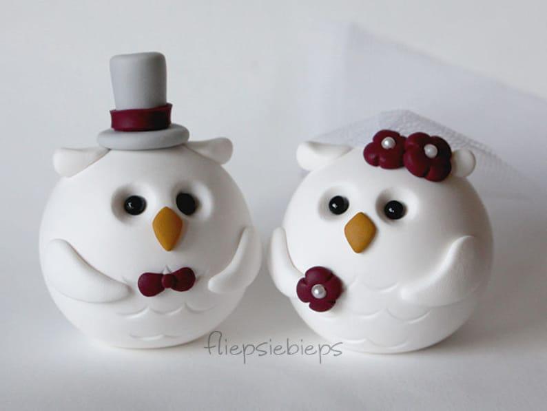 Custom Owl Cake Topper Wedding image 0