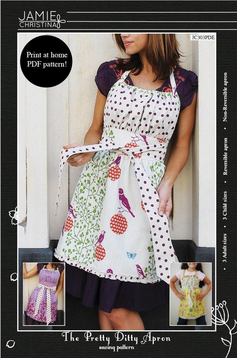 Pretty Ditty Apron e-pattern pdf sewing pattern image 0