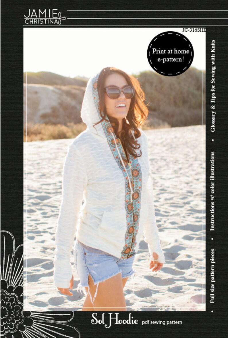Sol Hoodie e-pattern pdf sewing pattern image 0