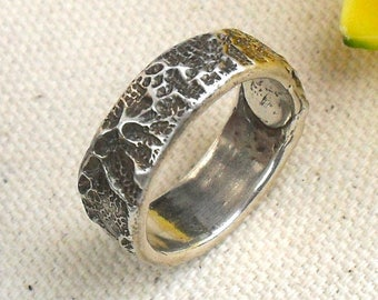Old Spanish Lace Band Ring Made to Order in Fine Silver