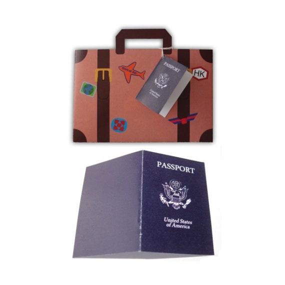 Digital PDF Large World Traveler Suitcase Set Printable Color
