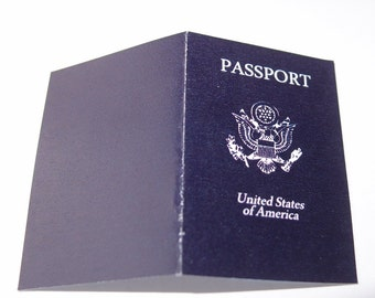 Digital PDF Passport Card World Travel Printable Blank Cards or Invitations (most countries available by request)