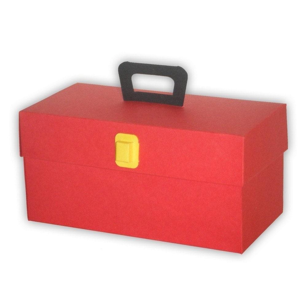 Toolbox Favor Gift Box Printable Color Template Digital