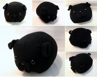 Black Pug Loaf- Medium -Made to Order