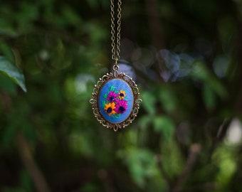 Custom Spider Spells: embroidery, spells, fiber art, custom, thread art, healing, pendant