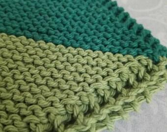 Double Mint Cotton Dishcloth