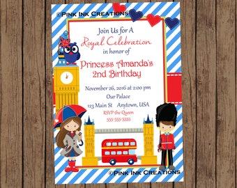 London Birthday Invitation / London Invitation / London Baby Shower Invitation / London Birthday Party / England Invitation / PRINTABLE