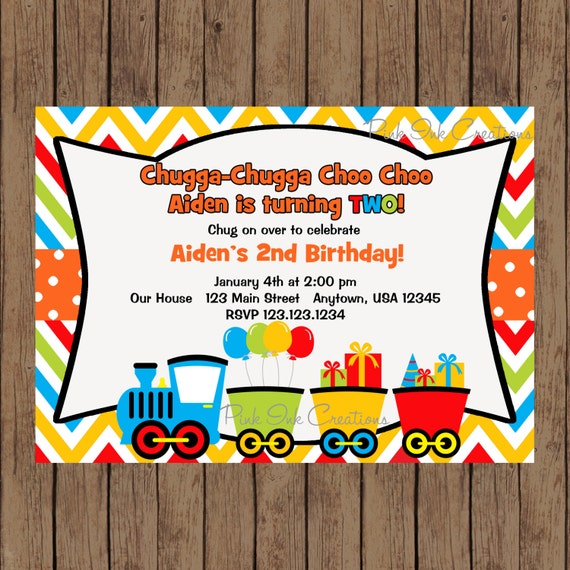 TRAIN Birthday Invitation Train Party