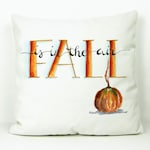 Fall Is In The Air Decorative Accent Pillow Cover, Autumn Pillow Cover Decor, Fall And Autumn Accent Pillow Cover, Halloween Accent Pillow