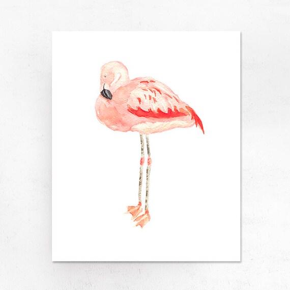 Descargar Digital Flamingo Imprimir Arte Acuarela Rosa Vivero Pared Arte Decor Flamingo Vivero Decor Decoración Cuarto De Niños Para Imprimir