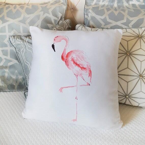 flamant rose coussin oreiller flamant rose housse pour home etsy. Black Bedroom Furniture Sets. Home Design Ideas