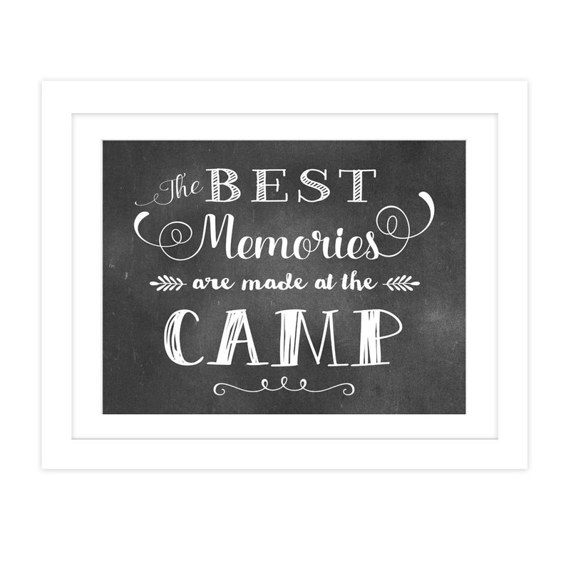 Typography Print, Chalkboard Typography Art Print, The Best Memories Art  Print For Home Decor, Black And White Print, Art Print Quote