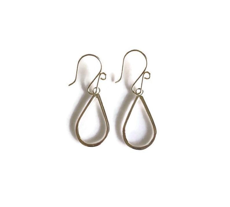 Everyday Silver Earrings  Teardrop Earrings  Minimalist image 0