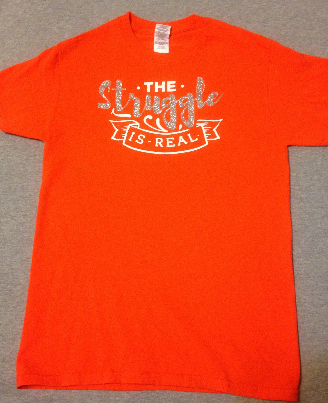 Designer T Shirt For Women Teens The Struggle Is Real Custom T