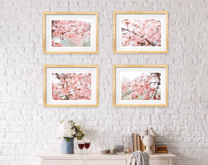 Featured listing image: Cherry Blossoms Print Set
