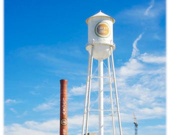 Lucky Strike Smokestack and Water Tower