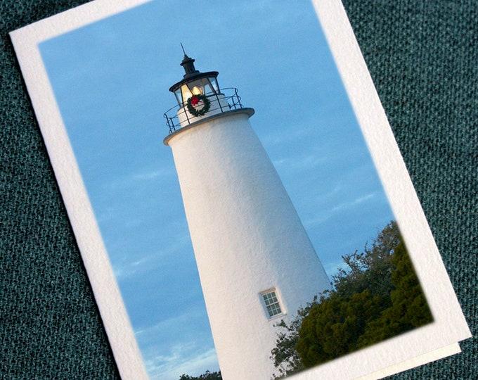 Featured listing image: Ocracoke Lighthouse Christmas Wreath