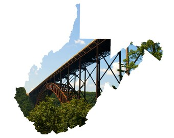 WV Shape - New River Gorge Bridge