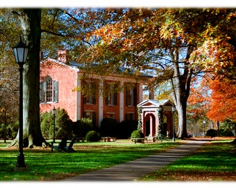 Davidson College Old Well in Autumn