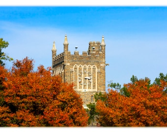 Duke University Clock Tower in Autumn