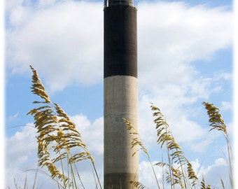 Oak Island Lighthouse with Dunes