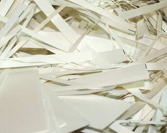 SALE - 10% OFF - Big Box of Scrap Paper - Arches 90 lb Watercolor Paper Strips - Supplies for Handmade Papers