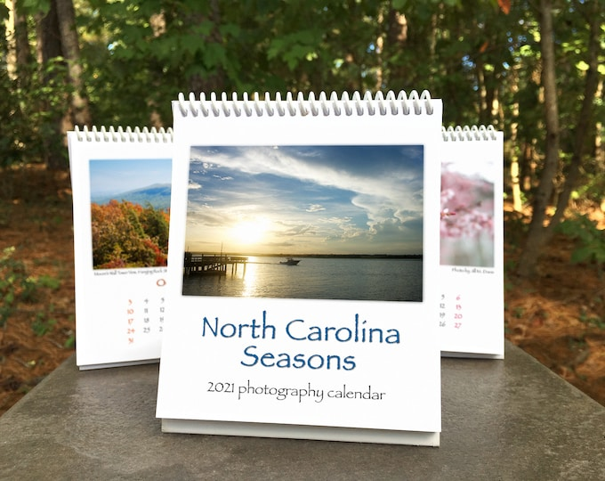 Featured listing image: Early Bird SALE! NC Seasons 2021 Calendar - 10% off!